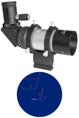 Explore Scientific 8 x 50 90° PolarFinder & Amici Prism