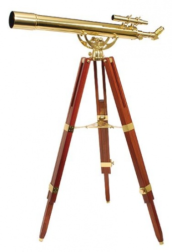 Helios Fine Brass 80900 36 x 80 Telescope With Finder & Tripod