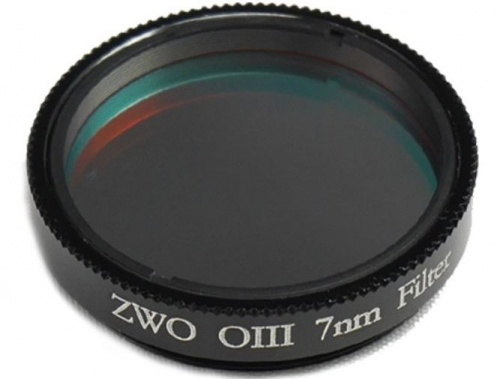 ZWO 1.25'' OIII 7nm Narrowband Filter