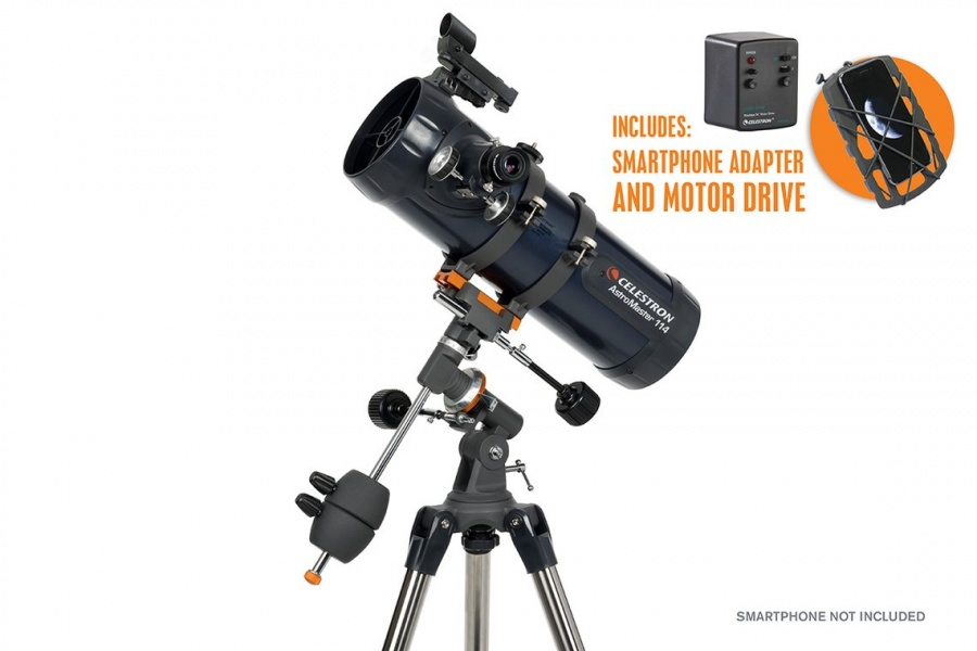 Celestron AstroMaster 114EQ Newtonian Telescope With Motor Drive