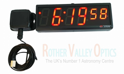 BRG Precision 6 Digit 4'' Sidereal Clock With GPS Receiver