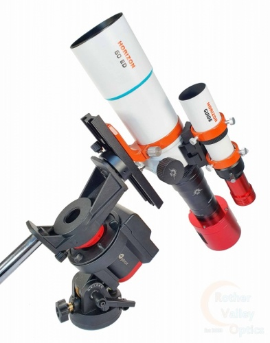 RVO Horizon 60 ED Doublet Full Imaging Bundle With ZWO Guide & Imaging Camera Mounted On iOptron SkyGuider Pro
