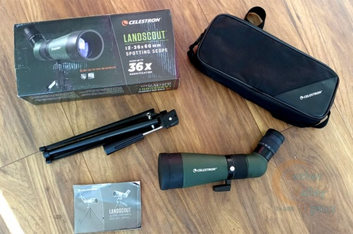 Ex Demo Celestron LandScout 12-36x60mm Spotting Scope with Table Top Tripod