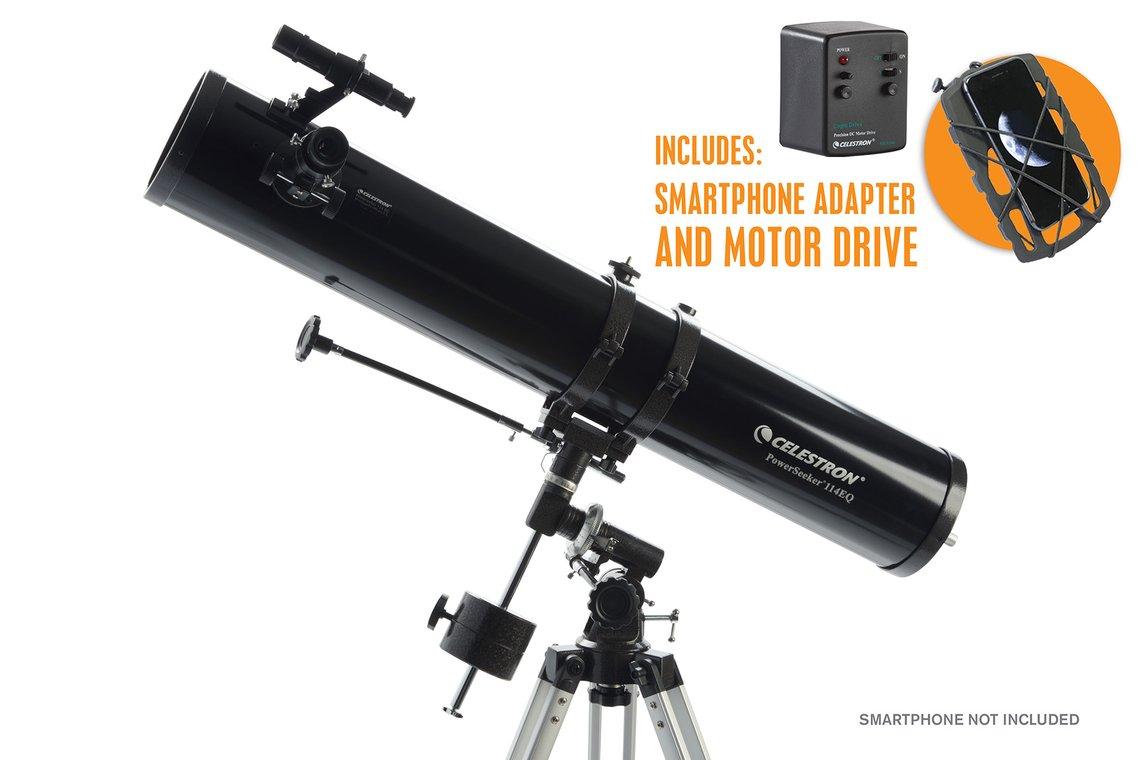 Celestron PowerSeeker 114EQ Newtonian Telescope With Motor Drive