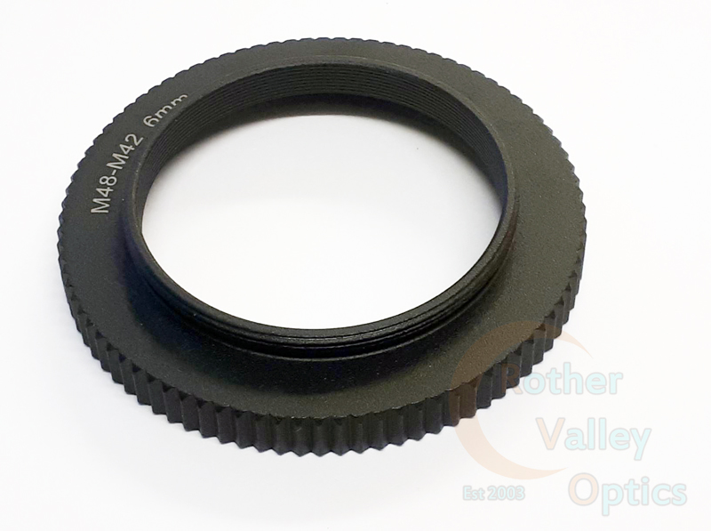 Rother Valley Optics M48 Female to T2 Male Adaptor 6mm Optical Length