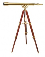 Helios Fine Brass 6040 28 x 60 Telescope With Tripod