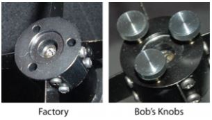 Bobs Knobs Skywatcher Newtonian Secondary Collimating Thumbscrews