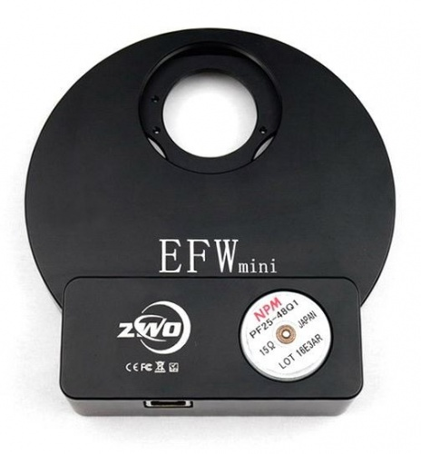 ZWO EFW Mini 5 Position Electronic Filter Wheel For 1.25'' & 31mm Unmounted Filters